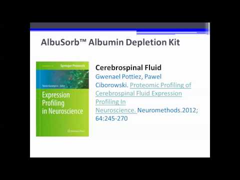 Albusorb™ Albumin Depletion Sample Prep Kit & Proteomic Profiling of Cerebrospinal Fluid