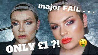 FULL FACE USING ONLY £1 MAKEUP! | Jack Emory