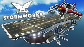 MASSIVE AIR CARRIER LANDING FAILS! - Stormworks: Build and Rescue Gameplay