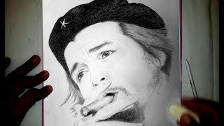 Che Guevara Drawing - Time lapse