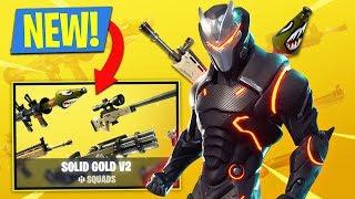 SOLID GOLD v2 GAME MODE!! (Fortnite Battle Royale)
