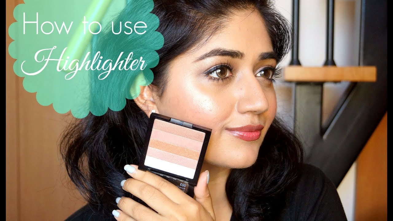 Highlighter Makeup Tutorial for Beginners : corallista - YouTube