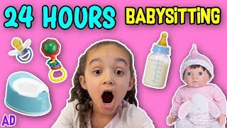 I HAD TO LOOK AFTER TWIN BABIES ON MY OWN | IN CHARGE 24 HOUR BABYSITTING CHALLENGE!!