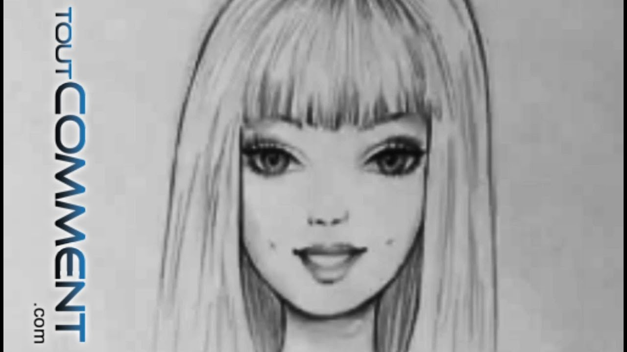 Comment dessiner barbie youtube - Dessin de barbie facile ...