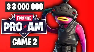 Fortnite PRO AM Game 2 Highlights - Summer Block Party Highlights