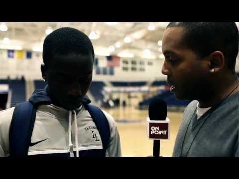 La Lumiere Sophomore Munis Tutu & Head Coach Alan Huss - ON POINT