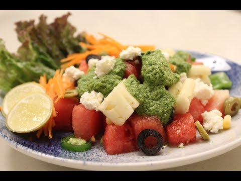 Watermelon And Crumbled Cheese Salad | Sanjeev Kapoor Khazana