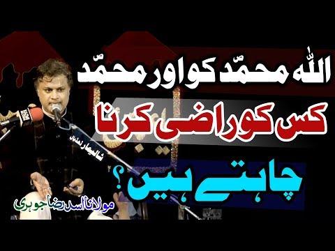 Rasool (saw) Kis Ko Razi karna Chahtay Hain..? | Maulana Asad Raza Johri | 4K