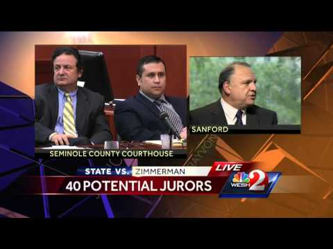 40 potential jurors selected for George Zimmerman jury pool