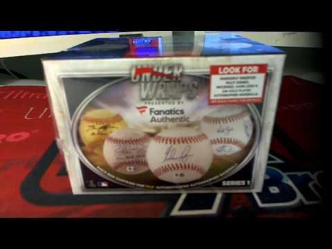 2016 Fanatics Under Wraps Autographed Baseball ID JUNEFANATICSBALL221
