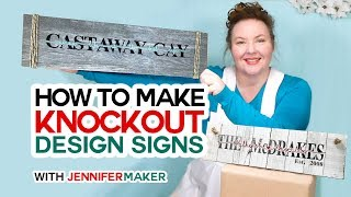 Make Knockout Design Signs in Cricut Design Space