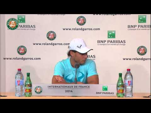 Roland Garros 2014 Thursday Interview Nadal