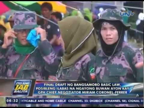 Final draft ng Bangsamoro Basic Law, posibleng ilabas na ngayong buwan