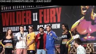 Wilder - Fury undercard Press Conference