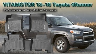 Unboxing and Install   YITAMOTOR Floor Mats for 2013-2018 Toyota 4Runner/Lexus GX