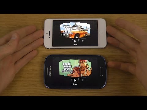 GTA San Andreas iPhone 5 iOS 7.0.4 vs. Samsung Galaxy S3 Mini Gameplay Performance Review