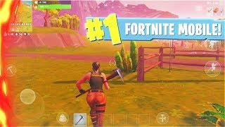 New FORTNITE MOBILE Gameplay! (Fortnite Mobile Early Access)