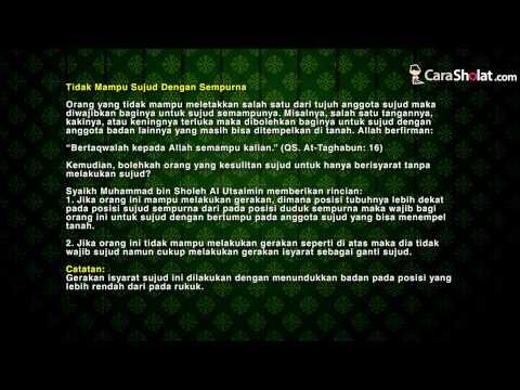 30. Sujudnya Wanita Dalam Shalat - Video Panduan CaraSholat.com