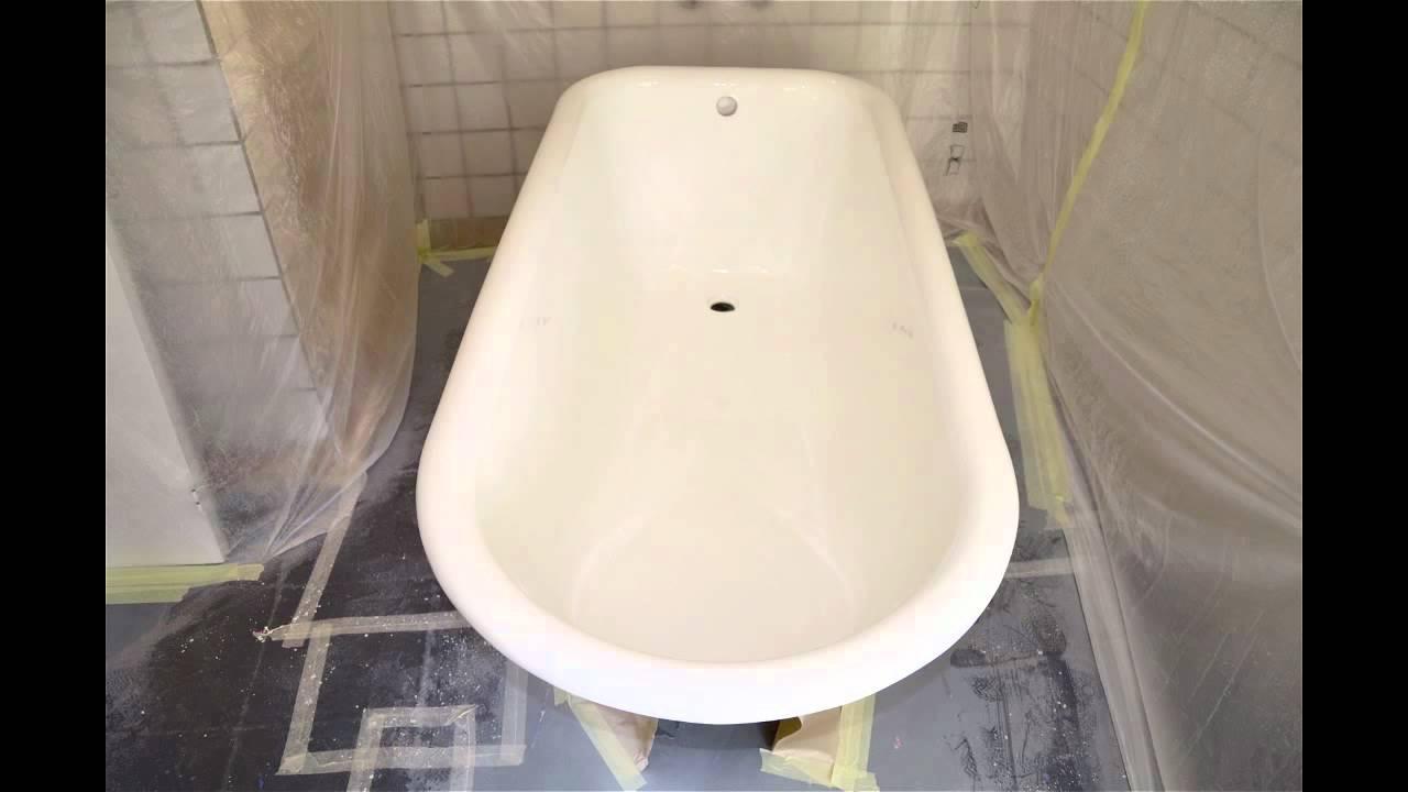 Renovatie van een bad op pootjes in uden youtube - Sanitair opknappen ...