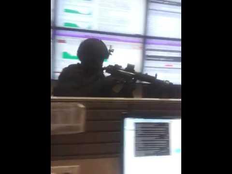 NSG Commandos Mock drill at Bharti Airtel Manesar Telesonic office.