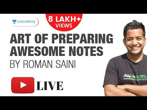 Art of Preparing Awesome Notes by Roman Saini