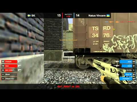 Na`Vi vs. SK map 2 train dreamhack 2011