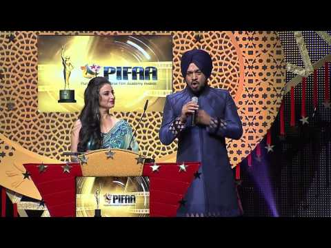 Divya Dutta and Gurpreet Ghuggi LIVE Performance - PIFAA - Punjabi International Film Academy Awards
