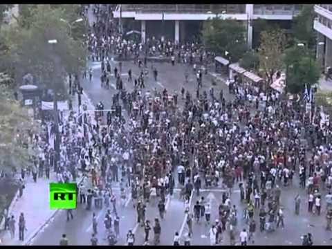 Greece protesters rage against austerity [RAW]