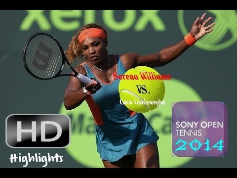 Serena Williams vs.Coco Vandeweghe Miami*Sony Open*2014 Highlights!