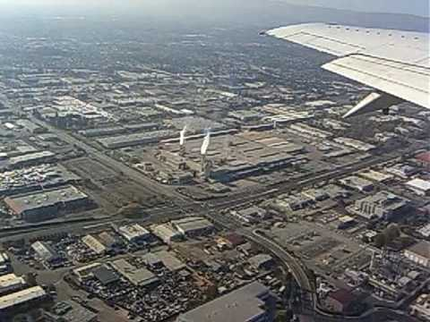 Take Off from San Jose CA. A bird view of Silicon Valley Video