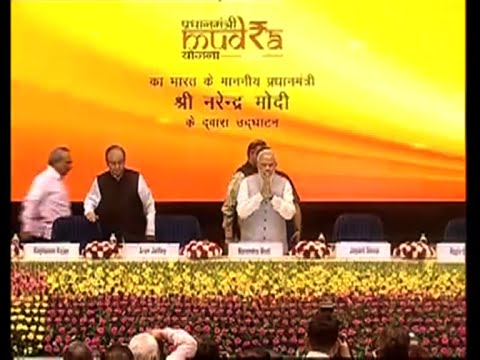 PM Narendra Modi launches Rs 20000 crore MUDRA Bank