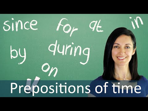 Prepositions In Time Expressions, Prepositions of time lesson