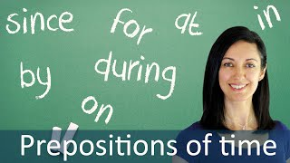 Prepositions in Time Expressions - English Grammar & Speaking Lesson