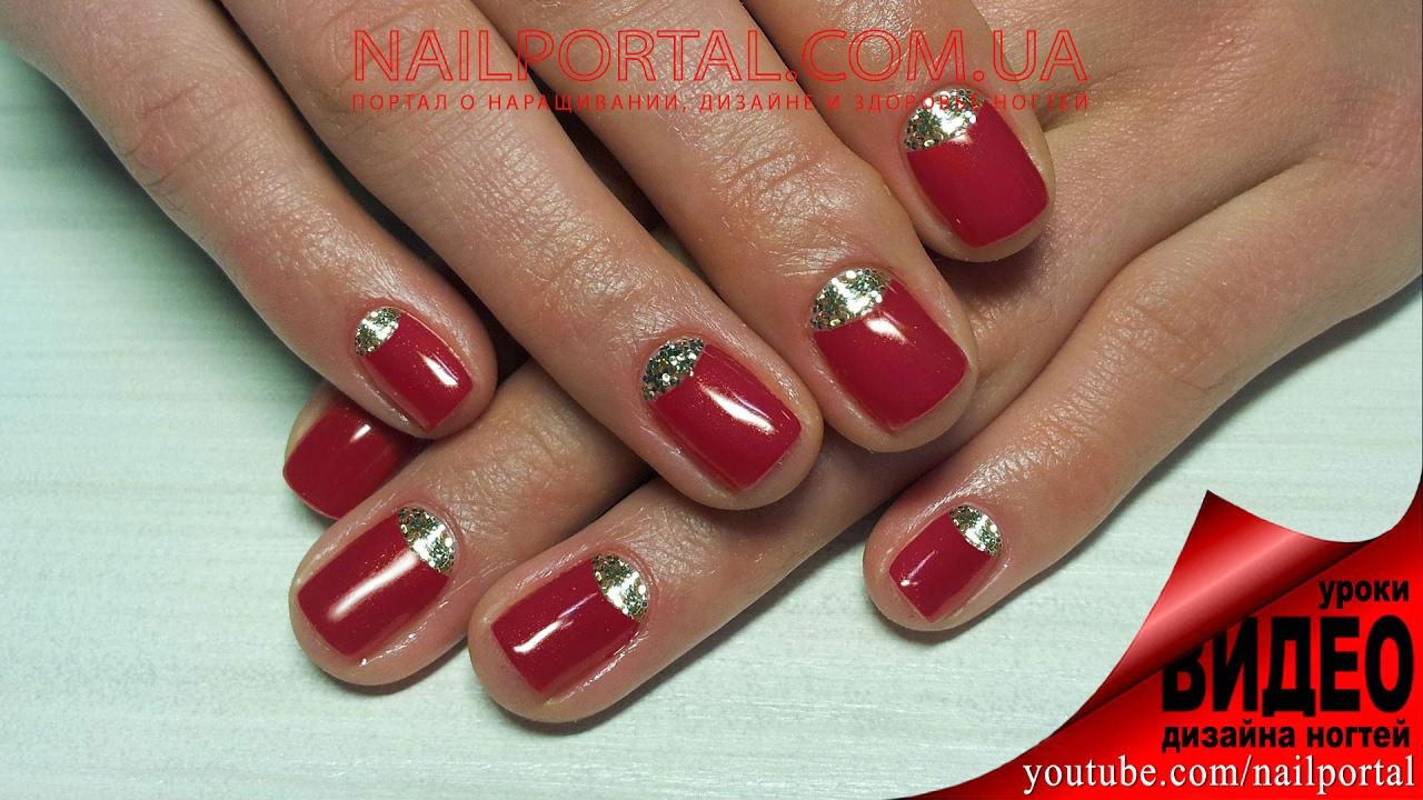 Короткие красные ногти шеллак фото 2018