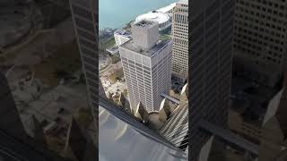 Working at the top of the second tallest building in Detroit