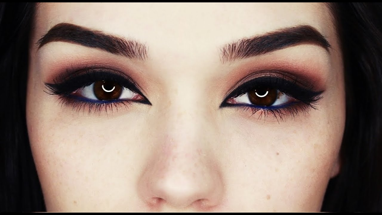 bronze eyes with arab liner makeup youtube