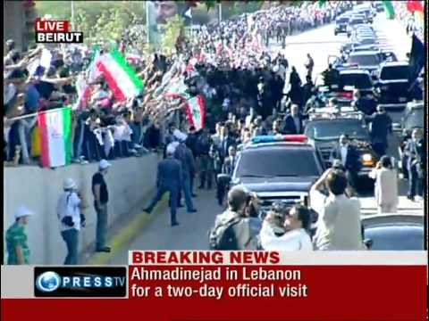 Unique welcome for president Ahmadinejad in Lebanon | 2010 | Part 1