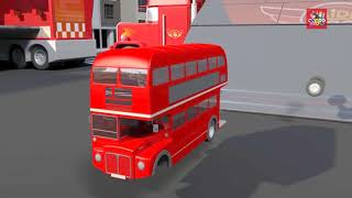 Learning Color Special city Vehicle Double decker Bus Assemble and drawing play for kids