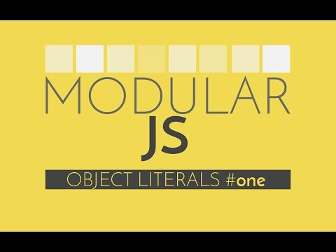 Modular Javascript - Javascript Tutorial on the Object Literal Pattern