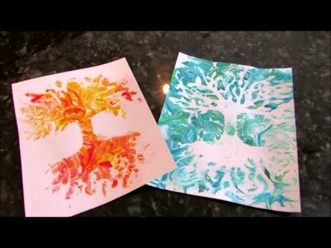 how to make shaving cream prints  abstract technique   youtube