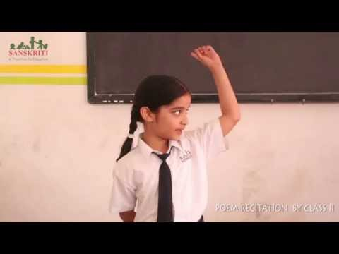 Hindi Poetry Recitation By Class Ii video
