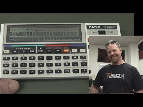 EEVblog #1102 - Casio FX730P 1980's BASIC Scientific Computer