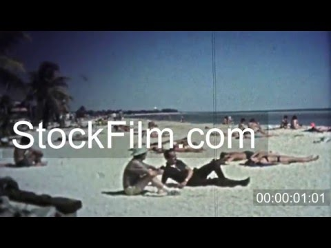 1972: Peeping tom at the beach zooms in on pretty women. KEY WEST, FL, USA