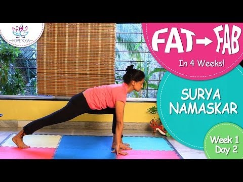 Loose Weight In 4 Weeks || Week 1 - Day 2 ||  Surya Namaskar