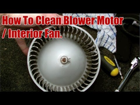 How to Clean Honda CRV Blower Motor / Interior Fan - YouTube