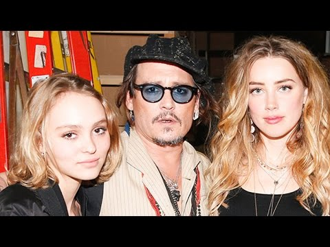 Johnny Depp Parties With Amber Heard and His 16-Year-Old Daughter, Lily Rose