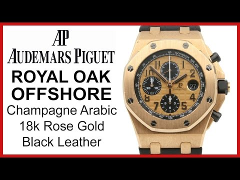 Audemars Piguet Royal Oak Offshore Rose Gold, Champagne UNBOXING & REVIEW - 26470OR.OO.A002CR.01