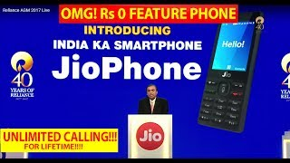 [Hindi - हिन्दी] JIO Feature Phone Launched at Rs 0 - All you Need to Know