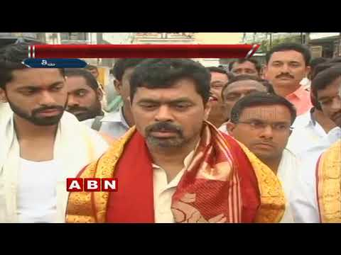 TDP MP CM Ramesh visits Tirumala temple