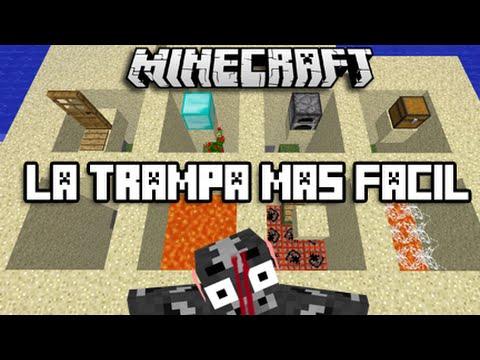 LA TRAMPA MAS FÁCIL PARA MINECRAFT CON 3 MATERIALES